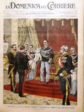 La Domenica del Corriere 17 Febbraio 1901 Re Baku Petrolio De Marchi Politica