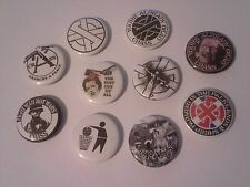 10 Crass Pin button Badges 25mm punk You're already dead Anarchy and peace UK
