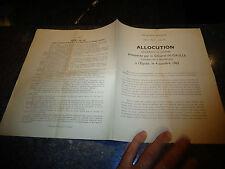 Allocution Général de Gaulle Oct 1962 Ellection Presidentielle Sufrage Universel