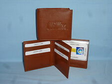 OLE MISS Mississippi REBELS   Leather BiFold Wallet    NEW    brown 4 +