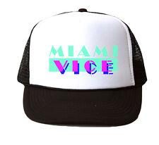 Miami Vice Trucker Hat Mesh Cap Snapback Adjustable Brand New-Black