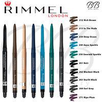 RIMMEL London Exaggerate Waterproof Eyeliner Eye Definer Pencil *ALL SHADES*