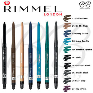 RIMMEL London Exaggerate Waterproof Eyeliner Eye Definer Pencil *ALL SHADES*