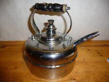 Vintage - Simplex Patent Copper Tea Kettle Gas Stove Top Chrome - England