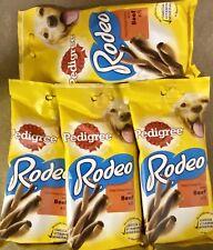 4 X PEDIGREE DOG RODEO BEEF CHEW TREATS PACK OF 8