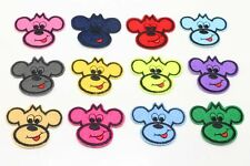 12pcs Mickey Mouse head Embroidery Iron Sew On Patches Motif Appliqué Kids Gifts