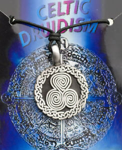 Colgante + Cordón Tribal Étnico Celta Druidismo de Estaño Protección B6 7979