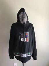 Disney Star Wars Darth Vader Mens Zip Up Mask Jacket Size M Or L NWT Costume