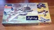 1964 Monogram 1/48 scale Lockheed P-38 L/J/M Lightning (PA97)