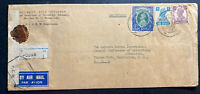 1943 Poona India Censored Airmail Cover to Sabbath School Washington DC USA