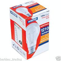 10 X 100 WATT LIGHT BULB CLEAR BULBS DIMMABLE LIGHTS LONG LIFE  BC BAYONET CAP