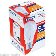 10 x 100 Watt lampadina lampadine chiare alla regolazione luci lunga vita BC A BAIONETTA CAP