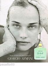 PUBLICITE ADVERTISING 065  1997  GIORGIO ARMANI  parfum femme GIO 2