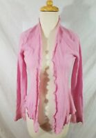 Neiman Marcus Cashmere PInk Long Sleeve Open Cardigan Sweater Small Women