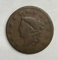 1830 Coronet Head Large Cent 1¢ Very Good