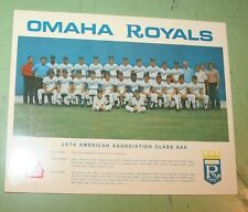 1974 OMAHA ROYALS MINOR LEAGUE BASEBALL TEAM PHOTO  sponsored by RED BARN