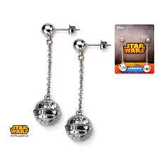 STAR WARS Jewelry Stainless Steel Death Star 3D Cast Stud Dangle Earrings