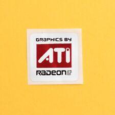 Genuine NOS ATI 'Graphics By ATI RADEON IGP Case Badge Sticker *NEW*