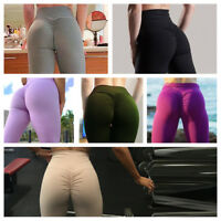 Women PUSH UP Yoga Leggings Fitness High Waist Sport Gym Jogging Pants Trousers
