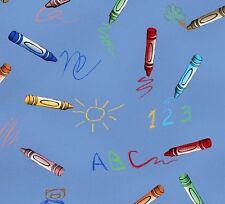 Cuarto gordo Muñecos De Papel School House Crayones Algodón Colchas de retazos de tela