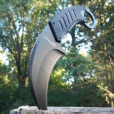 "8"" TACTICAL COMBAT Karambit Claw FIXED BLADE KNIFE Army Hawkbill w/ SHEATH"