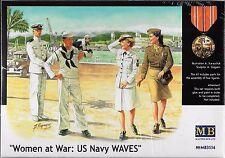 """1/35 Master Box 3556 """"Women at War: U.S. Navy Waves"""" - 4 Figures Set"""