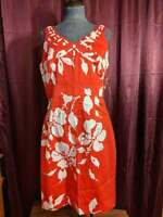 *Sandra Darren Size 12 Red and White Floral Dress NWT $40 Closet10*