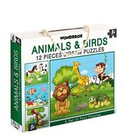 Set of 4 Puzzles Brain Games Toys Birthday Gifts For Age 3 - 5 Yrs - 25 X 20 cm