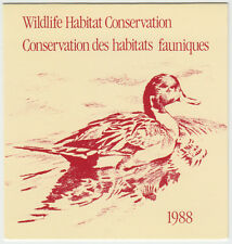 Canada - #FWH4 1988 Federal Conservation Stamp Booklet - Pintail Ducks