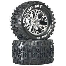 "Lockup MT 2.8"" RC Wheel/Tire 1/2"" Offset Chrome 2pc (Stampede,Volcano,Caldera)"