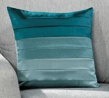 """Multi Tone Pintuck Faux Silk Satin 17""""x 17"""" Square Scatter Filled Cushion Covers"""