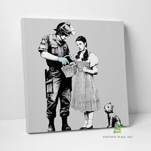 BANKSY Dorothy Stop and Search Graffiti Canvas Art Wall Art Print Picture -C846