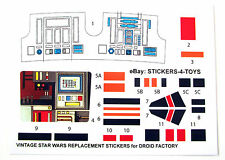 Kenner DROID FACTORY Vintage Star Wars replacement Sticker set