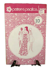 Vintage Patterns Pacifica Hawaiian Dress Pattern Size 10 #3030 Uncut NOS
