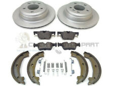 BMW F30 320 320D REAR 2 BRAKE DISCS & PADS & HANDBRAKE SHOES & FITTING KIT