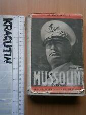 1939 WWII MUSSOLINI GIORGIO PINI GERMANY BOOK ITALY AVIATOR FREIHEITS VERLAG WW2