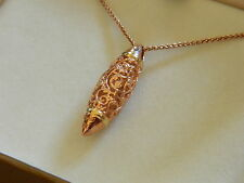 Clogau 9ct Welsh Gold Am Byth Bullet Pendant with Extension RRP £980.00