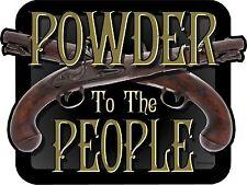 "1 - 4""  Black Powder To The People Decal Sticker Muzzleloader Gun Rifle 2149"