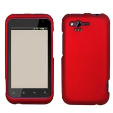 Rubberized Red HARD Protector Case Snap on Phone Cover for Verizon HTC Rhyme