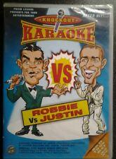Robbie Vs Justin Knockout karaoke DVD