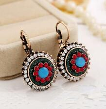 Women Vintage Earrings Bohemian Round Ethnic Style Boho Multicolor Earring