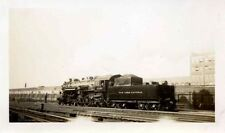 7C271 Rp 1930s Nyc New York Central Railroad Engine #3195 Lasalle St Chicago Il