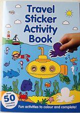 Travel sticker book - blue cover