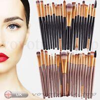 20Pcs Pro Makeup Set Powder Foundation Eyeshadow Eyeliner Lip Cosmetic Brushes a