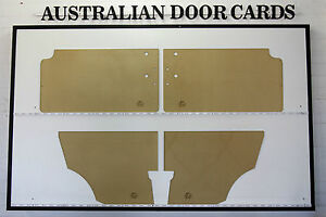Australian Morris Mini Windup Window MK1 / MK2 Door Cards. Blank Trim Panels