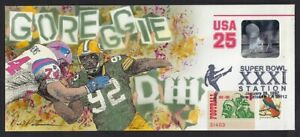 Peterman H.P Packers Reggie White Large Super Bowl XXXI, Hologram Envelope