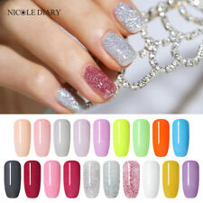 19Colors Nicole Diary 10ml Dipping Acrylic Powder Glitter White Acrylic Nail Art