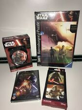 Disney Star Wars Bundle - Force Awakens DVD, Alarm Clock, Jigsaw, 3D Coasters