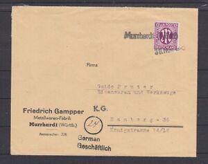 AM-POST Notstempel Murrhardt (Würt) Typ c 30.11.45 (B-5602)