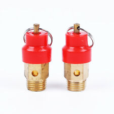 "2 x 1/4"" Compressor Pressure Relief Valves Safety Release Air Fitting Pneumatic"